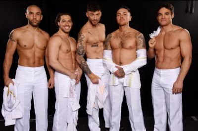 alex beresford shirtless dancing on ice with Kem Cetinay, Jake Quickenden, Ray Quinn and Max Evans