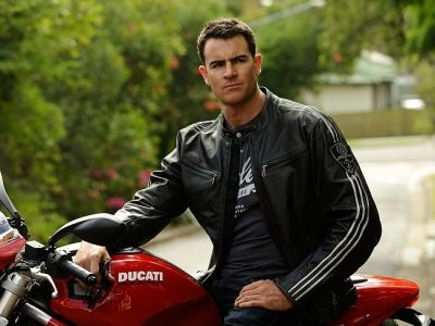 ben lawson hot in leather jacket