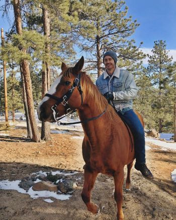 blue hamilton cowboy - horseback riding nelson