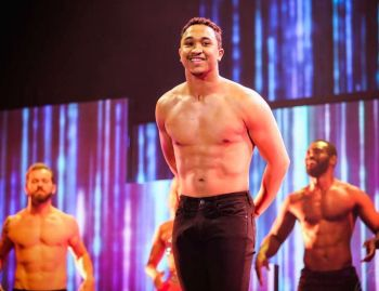 brandon armstrong shirtless dance on stage