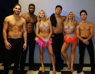 brandon armstrong shirtless dwts - with alan keo lindsay arnold emma slater and sasha