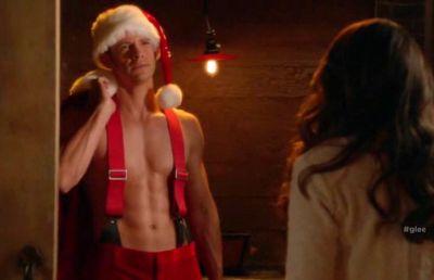 bryce johnson hot santa glee