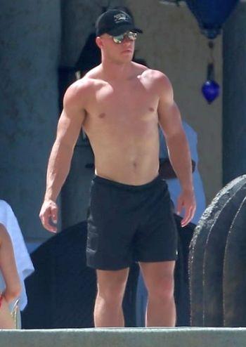 christian mccaffrey shirtless body