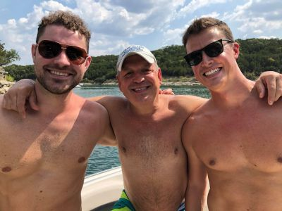 dave franco shirtless body with pals
