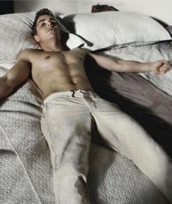 dave franco shirtless in bed