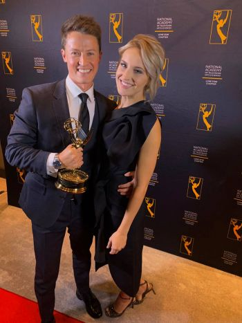 david yeomans emmy award with girlfriend
