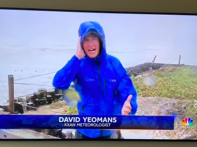 david yeomans meteorologist on location reporting