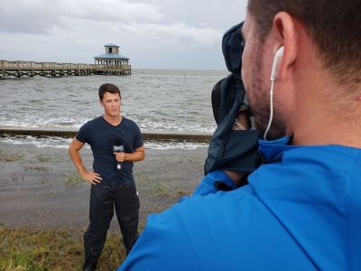 david yeomans meteorologist on location reporting2
