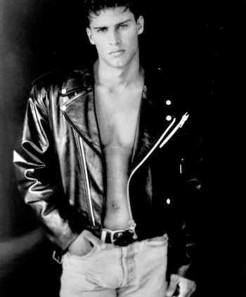 greg vaughan young male model first photoshoot