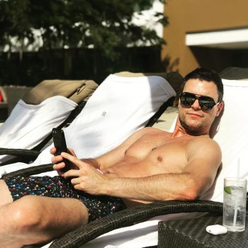 hot men in bed colin egglesfield by the pool