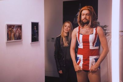 jack whitehall wearing womens dress
