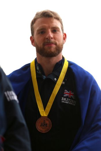 jj chalmers hot invictus games medal