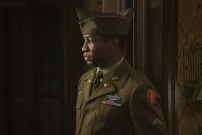 jonathan majors hot in uniform lovecraft country