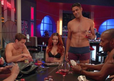 kristian kordula underwear in hit the floor - strip poker