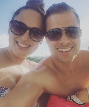 liam martin shirtless with wife