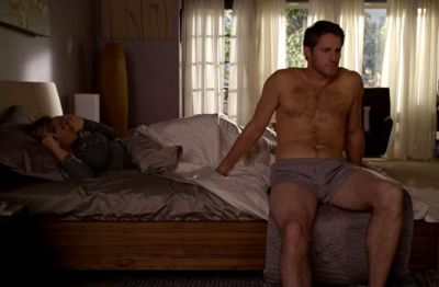 sam jaeger underwear shirtless in bed - parenthood