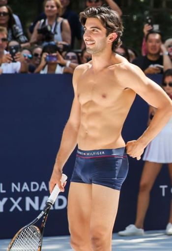 underwear as outerwear - tennis hunks - akin akman tommy hilfiger