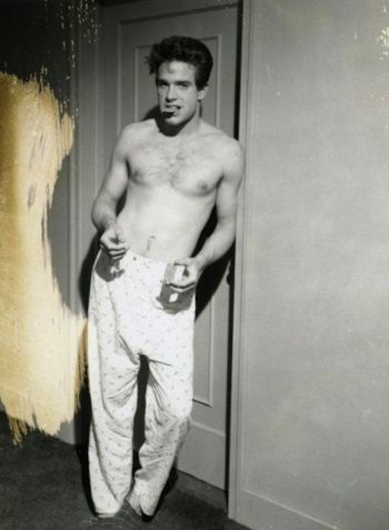 warren beatty shirtless in pajamas