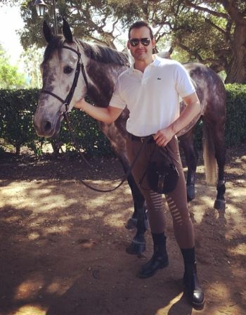 David Begnaud hot in tight pants equestrian show jumping