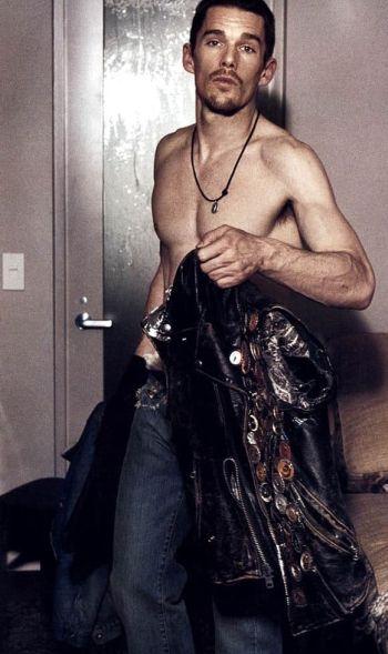 ethan hawke shirtless leather jacket