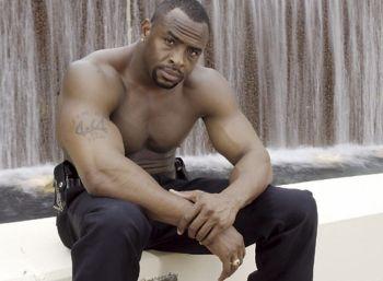 hot black men in uniform shirtless cop