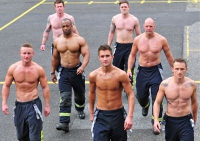 hot men in uniform shirtless firefighters