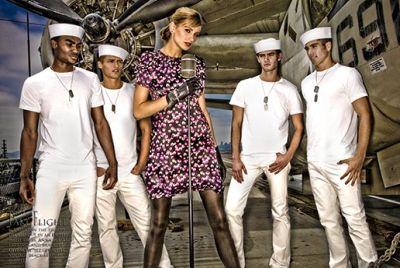 hot navy men male models