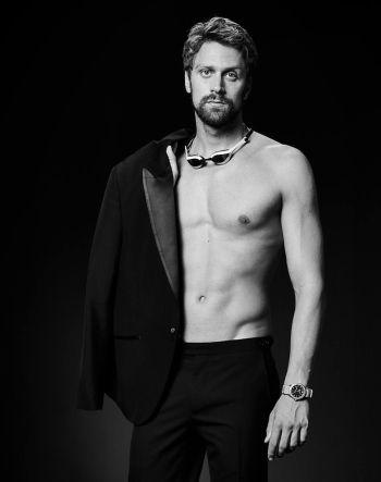 Baume et Mercier Celebrity Brand Ambassadors - Luca Dotto - italian swimmer - clifton club 10338