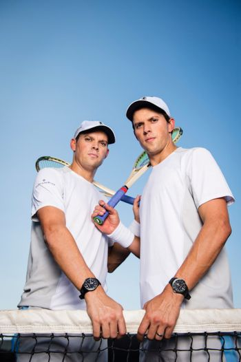 Celebrities With Baume et Mercier Watches - bob and mike bryan tennis champion us open