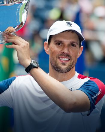 Celebrities With Baume et Mercier Watches - mike bryan tennis champion us open
