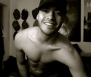 Gabriel Chavarria shirtless body