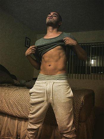Gabriel Chavarria underwear guys in sweatpants