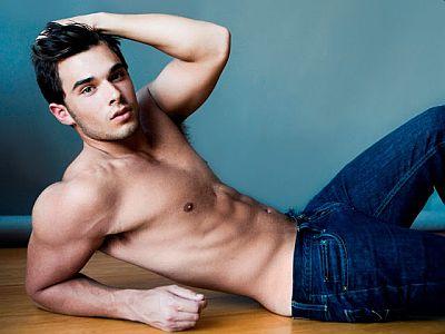 Josh Swickard shirtless in jeans