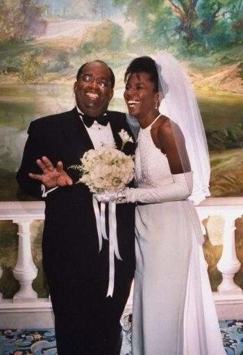 al roker wedding to wife deborah roberts 1995