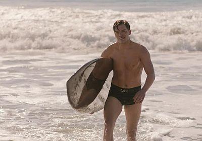 dominic sherwood speedo swimsuit in penny dreadful