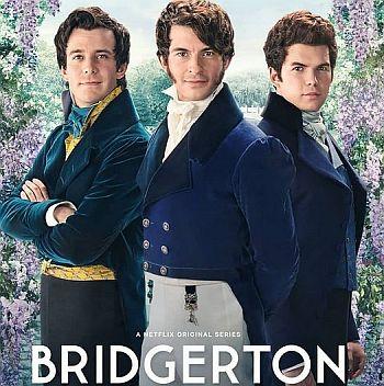 luke thompson as benedict bridgerton with jonathan bailey and luke newton