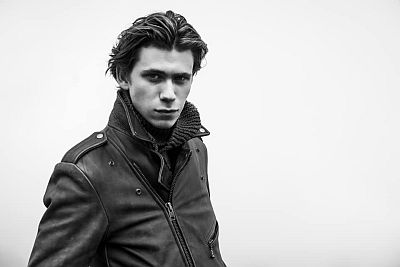 owen teague hot in leather jacket