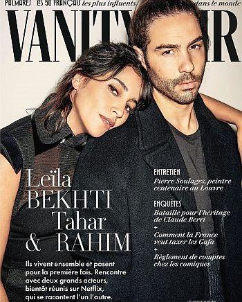 tahar rahim wife leika bekhti - vanity fair cover