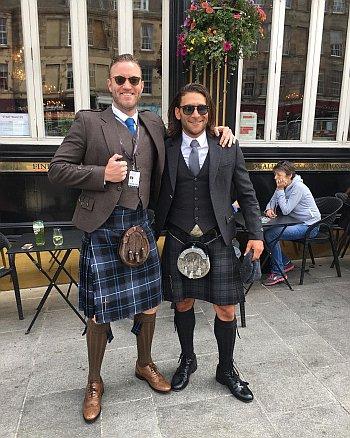 Diarmaid Murtagh hot men in kilt - with zach mcgowan