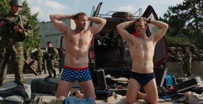 Diarmaid Murtagh underwear with charley bewley in renegades movie