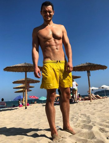 Julian Kostov hot guys in shorts