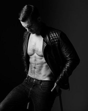 Julian Kostov shirtless in jeans