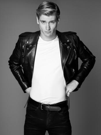 celebrity leather jacket - danny griffin