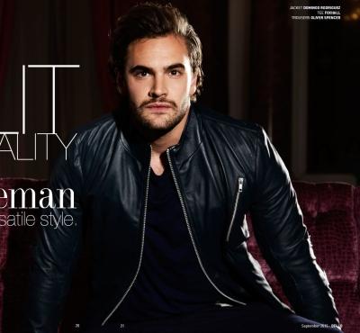 celebrity leather jacket - tom bateman - domingo rodriguez