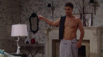 erik valdez shirtless body - towel