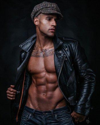 fitz henley body - leather jacket model