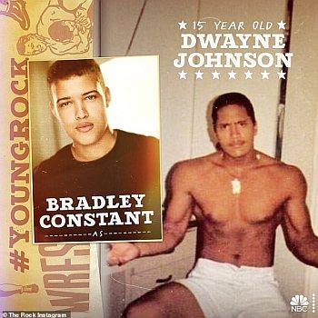 Bradley Constant teenage dwayne johnson in young rock