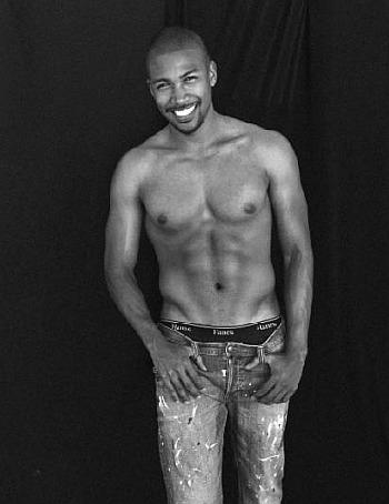 Charles Michael Davis underwear peekabo