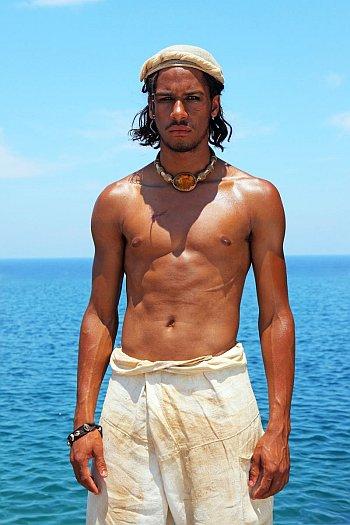 Elliot Knight shirtless as Sinbad