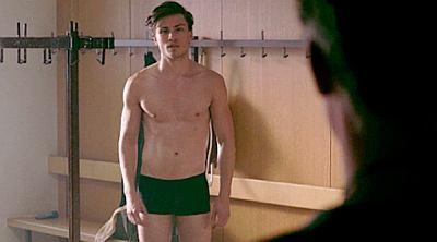Jannik Schümann underwear in Centre of My World movie